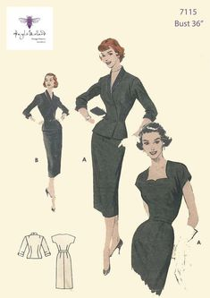Vintage Patterns, Sewing Patterns, Vintage Style, Vintage Fashion, Gored Skirt, Good Customer Service, Collar And Cuff, Rockabilly, Sheath Dress