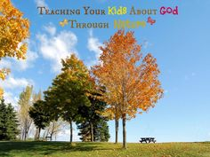 This is great I will have to discuss like this with Meredith.  Fun ways to teach your kids about God---through nature!