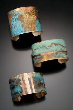 Beautiful Jewelry Elizabeth Taylor learn to patina metal. Beautiful Jewelry Elizabeth Taylor learn to patina metal Copper Jewelry, Wire Jewelry, Jewelry Crafts, Jewelry Art, Handmade Jewelry, Fashion Jewelry, Jewelry Design, Jewlery, Metal Jewelry Making