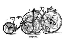 Vintage Clip Art - Cute Bicycles - The Graphics Fairy