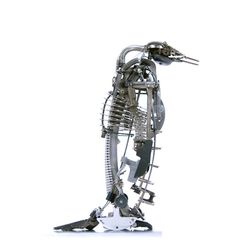 Penguin made from vintage typewriter parts