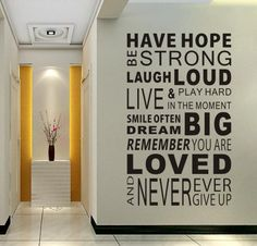 Have hope be strong...,Fashion word, environmental friendly removable wall stickers, Free shipping  wall decal / home decor on AliExpress.com. 5% off $9.03