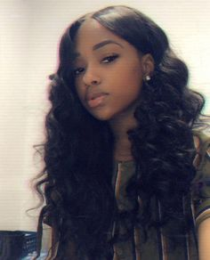 loose wave sew in with closure styles for black women 100 unprocessed virgin human hair weave bundles DHL worldwide shippinggreat promotion and extra coupons Black Girls Hairstyles, Braided Hairstyles, African Hairstyles, Sew In Hairstyles Curly, Black Girl Weave Hairstyles, Hairstyles Pictures, Baddie Hairstyles, Hairstyles 2018, Wedding Hairstyles
