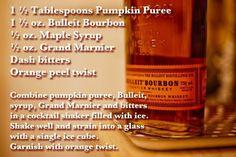 Bulleit whiskey thanksgiving cocktail.