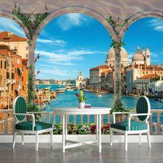 VLIES FOTOTAPETE FOTOTAPETEN TAPETE TAPETEN POSTER VENEDIG ITALIEN 3FX1072VE Foto Poster, Photo Wallpaper, Venice Italy, Mansions, House Styles, Home Decor, Art, Wall Paintings, Window