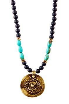 onyx medallion necklace #mariechavez