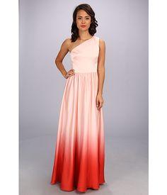 Ted Baker Daneka Single Shoulder Ombre Maxi Dress Nude Pink - 6pm.com
