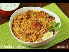 Easy chicken biryani recipe in pot or pressure cooker with video & step by step photos. Make the simplest flavorful & tasty chicken biryani at home Easy Chicken Biryani Recipe, Biryani Chicken, Easy Chicken Recipes, Rice Recipes, Indian Food Recipes, Cooking Recipes, Healthy Recipes, Healthy Food, Arabic Recipes