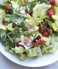 Romaine Salad With Tomatoes and Bacon | Raise the (salad) bar! With these crisp combos, it's easy to add greens to every meal.
