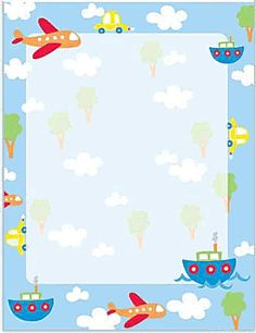 Planes and boats design paper from gartner studios. We offer large quantity discount. 40 count bond design paper with planes and boats. Transportation Crafts, Transportation Birthday, Kids Background, Flower Background Wallpaper, Invitation Card Sample, Cute Frames, Backdrop Design, Birthday Backdrop, Unicorn Crafts