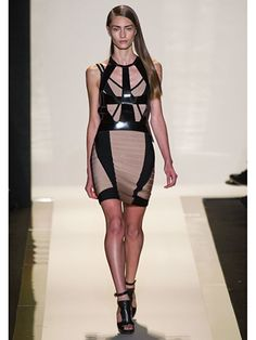 Spring 2013 Fashion Trends - Best Trends from Spring 2013 Fashion Week - Marie Claire  The Helmut Newton Effect  Hervé Léger    body-con bandage dress