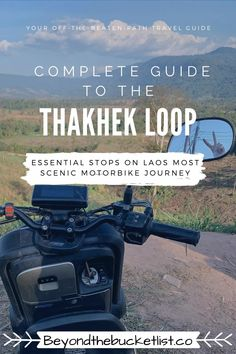 This complete guide to driving the Thakhek Loop in central Laos will help make your 4-5 day journey one of your most memorable experiences in the country. Where to eat, where to sleep, and where to stop all along the way. | Laos Travel | Best thing to do in Laos | Laos Travel Guide | Motorbike Loop | Southeast Asia Travel guide | Laos attractions | Tips for Laos | Tips for Thakhek Loop | Discover Laos | Things to do in Laos|