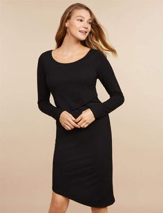 Motherhood Maternity Jessica Simpson Lift Up Ruched Nursing Dress #ad