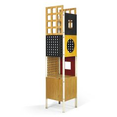 The work of Italian designer Ettore Sottsass is experiencing something of a renaissance, so an auction of his personal archive is well-timed. Enter Christie's, which put 80 pos- sessions from Sottsass's Milan apartment up for private sale in December 2013. One fine example is a 1965 storage tower, which represents an early experiment with the totem silhouette that would later become a signature.