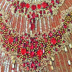 Detail of Alexander McQueen beaded gown.