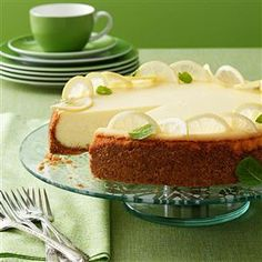 Lemon Dream Cheesecake Recipe -Light and lemony, this creamy dessert is just the thing for a spring or summer's day. —Bonnie Jost, Manitowoc, Wisconsin