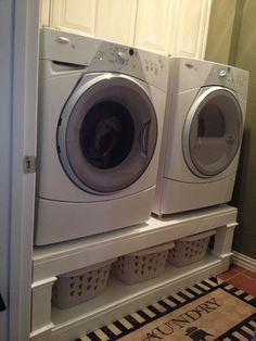 Washer Dryer Pedestal Plans | Washer and dryer pedestal.