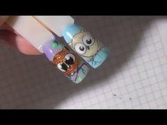 Как нарисовать на ногтях сову гельлаками. Екатерина Дьяченко - YouTube