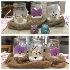Mason jar centerpiece!
