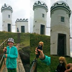 Where's Lottie Competition: Lottie is with Abigail (9) from Manchester. They headed to Scotland to see her Granny. She took Lighthouse Lottie to visit the local lighthouse on the headland at Ruby Bay In Elie. It was very windy! Awesome! Thanks for sharing :)
