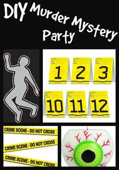 For Kids OR Adults - Hands ON Forensics Fun! Host your own crime scene investigations murder mystery party where the party goers actually have to do their own forensic investigations! This is a more intriguing. Mystery Dinner Party, Spy Party, Mystery Parties, Sleepover Party, Clue Themed Parties, Murder Mystery Games, Murder Mysteries, Mystery Games For Kids, Cozy Mysteries