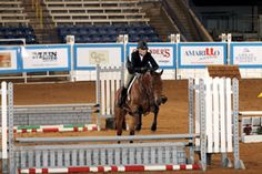 AQHA judge Robert Tweedlie says that you should let the fence come to you. Equitation over fences. Journal photo.