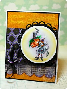 New #Halloween ideas from #Stampendous stamps! http://www.stampendous.com/product/0/CRP167-R/_/Cling_Punkin_Kitty