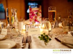 Wedding reception table setting and decor www.kevintrimmer.com