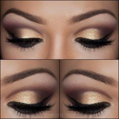 1.) prime eye with UD primer potion & define crease with (use smudger brush) MAC 'EMBARK' & form 'V' on outer crease 2.) Shade upward with M...