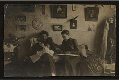 scienceyoucanlove: Two medical students studying at home in 1909. Source: Drexel University College Collection, Archives and Special Collections, from FTHQ