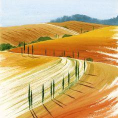 #Tuscany  #art #watercolor #watercolour #aquarelle #sketch #landscape #toscana #italy #painting #malen #kalachevaschool #learn…