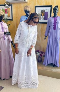 African Lace Styles, African Wear Dresses, Latest African Fashion Dresses, African Print Fashion, Africa Fashion, White Maxi Dresses, Trendy Dresses, African Print Dress Designs, White Fashion
