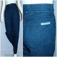 High waisted hotness: vintage #1980s Jordache jeans 80s striped denim pants by @retrotrend, $49.00