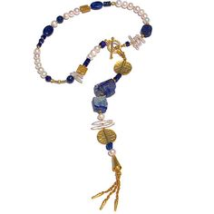 Lapis Lazuli Ferocious Felines Necklace