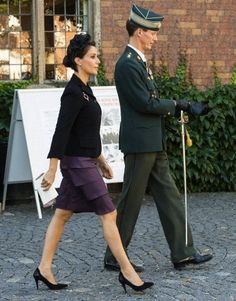 Danish Prince Jocahim and Princess Marie attending a Memorial ceremony for fallen soldiers at Kastellet in Copenhagen, 5 Sep 5, 2013.