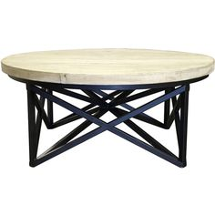 Custom Furniture & Cabinets, Inc. (CFC) Spider Coffee Table w/ Wood... (2 720 AUD) ❤ liked on Polyvore