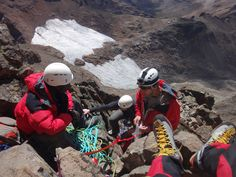 Belay Point on Nelion south east face Mount Kenya