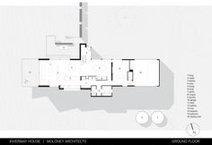 Invermay House / Moloney Architects, Floor Plan-G Craftsman Floor Plans, House Floor Plans, Plan Drawing, Floor Layout, Architecture Plan, Modern Minimalist, How To Plan, Plan Plan, Villa