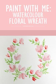 Paint With Me: Watercolour Floral Wreath Tutorial for Beginners - Wonder Forest Paint With Me: Watercolour Floral Wreath Tutorial for Beginners - Wonder Forest<br> Today I wanted to share my latest Paint With Me video. Watercolor Flowers Tutorial, Watercolor Art Diy, Floral Wreath Watercolor, Watercolour Tutorials, Art Floral, Watercolor Portraits, Painting Tutorials, Watercolor Landscape, Watercolour For Kids