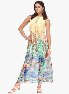 Buy NINETEEN Multicoloured Printed Maxi Dress for Women Online India, Best Prices, Reviews | NI175WA03HYQINDFAS