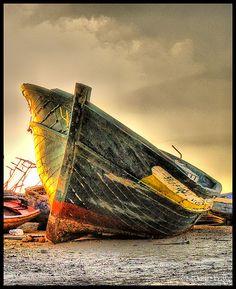 Retired Boat ! by Bashar Shglila, via Flickr.   THE LIBYAN Esther Kofod www.estherkofod.com