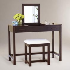 Dark Mahogany Chase Vanity Table | World Market