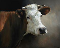 Alexandra Klimas - Anne the Cow, oil on canvas