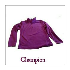 CHAMPION SZ L FUSHIA COLOR ZIP UP CHAMPION FUSHIA COLOR ZIP UP PULL OVER 100% POLYESTER SIZE L LIKE NEW Champion Tops Sweatshirts & Hoodies