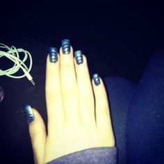 False nails!... I love this magnetic nail varnish! My favourite colour blue <3