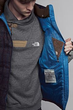 The North Face White Label, collaboration with Harris Tweed.