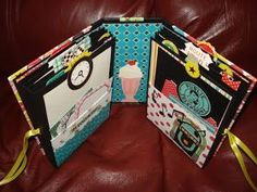 A Creative Operation: Happy Days Mini Album! Mini Photo Albums, Mini Albums Scrap, Mini Scrapbook Albums, Scrapbooking Album, Scrapbook Paper Crafts, Envelopes, Album Book, Handmade Books, Handmade Cards