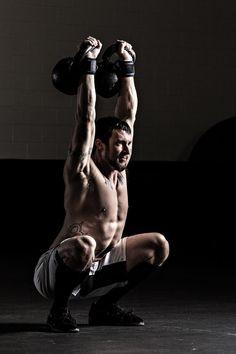 Double KB overhead squat