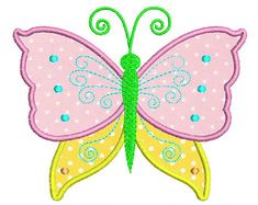 Butterfly Applique Machine by CherryStitchDesign on Etsy Applique Embroidery Designs, Machine Embroidery Applique, Free Machine Embroidery Designs, Applique Patterns, Machine Quilting, Butterfly Quilt Pattern, Butterfly Template, Sewing Appliques, Etsy