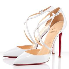 Christian Louboutin Sale Christian Louboutin Crosspiga Pumps White - Color: White Material: Patent Leather Heel height: Fashion Christian Louboutin Crosspiga Patent Leather Pumps Nude are crafted the stylish design. Red High Heels, High Heel Pumps, Jimmy Choo, Cheap Christian Louboutin, Zapatos Shoes, Women's Shoes, Strappy Shoes, Court Shoes, Fashion Shoes
